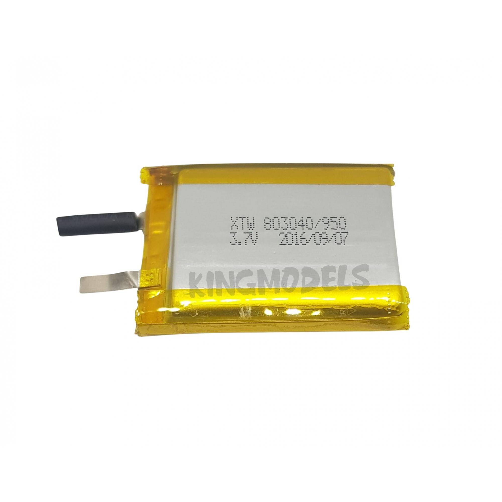 Bateria De Li-po Prismática 1s 3.7v 950mah - Uso Geral S/pcb  - King Models