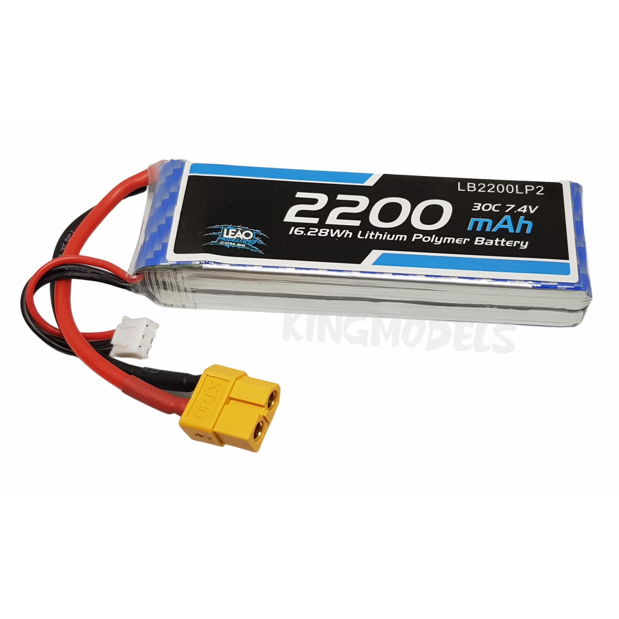 Bateria Lipo 2s 7.4v - 2200mah - 30c - Xt60 - A Melhor!!!!  - King Models