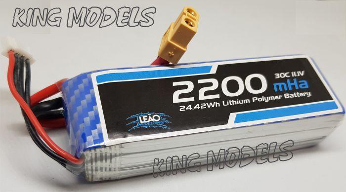 Bateria Lipo 3s 11.1v - 2200mah - 30c - Xt60 - A Melhor!!  - King Models