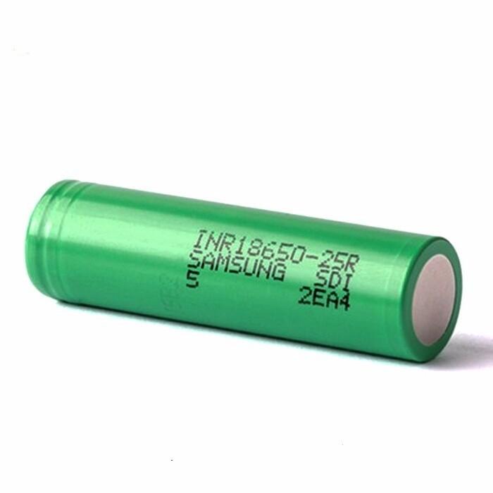 Bateria Samsung Li-ion 18650 - 3,7v - 2500mah - 20a - Original!!!!  - King Models