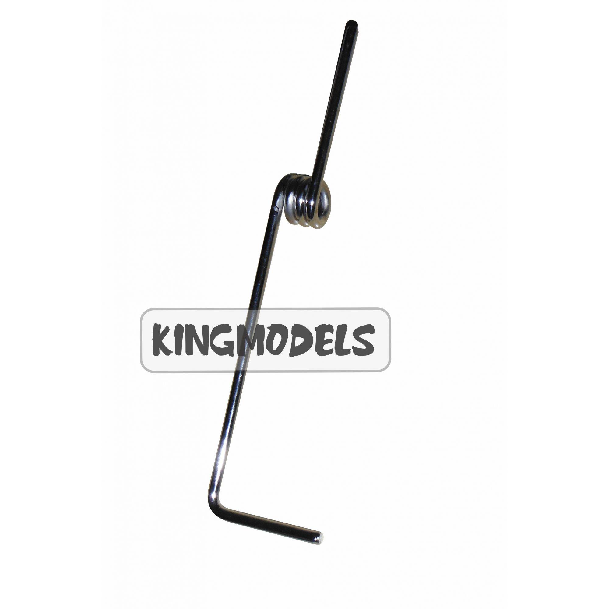 Bequilha Dianteira - Aeros A Combustão 150mm Com Mola-0419  - King Models