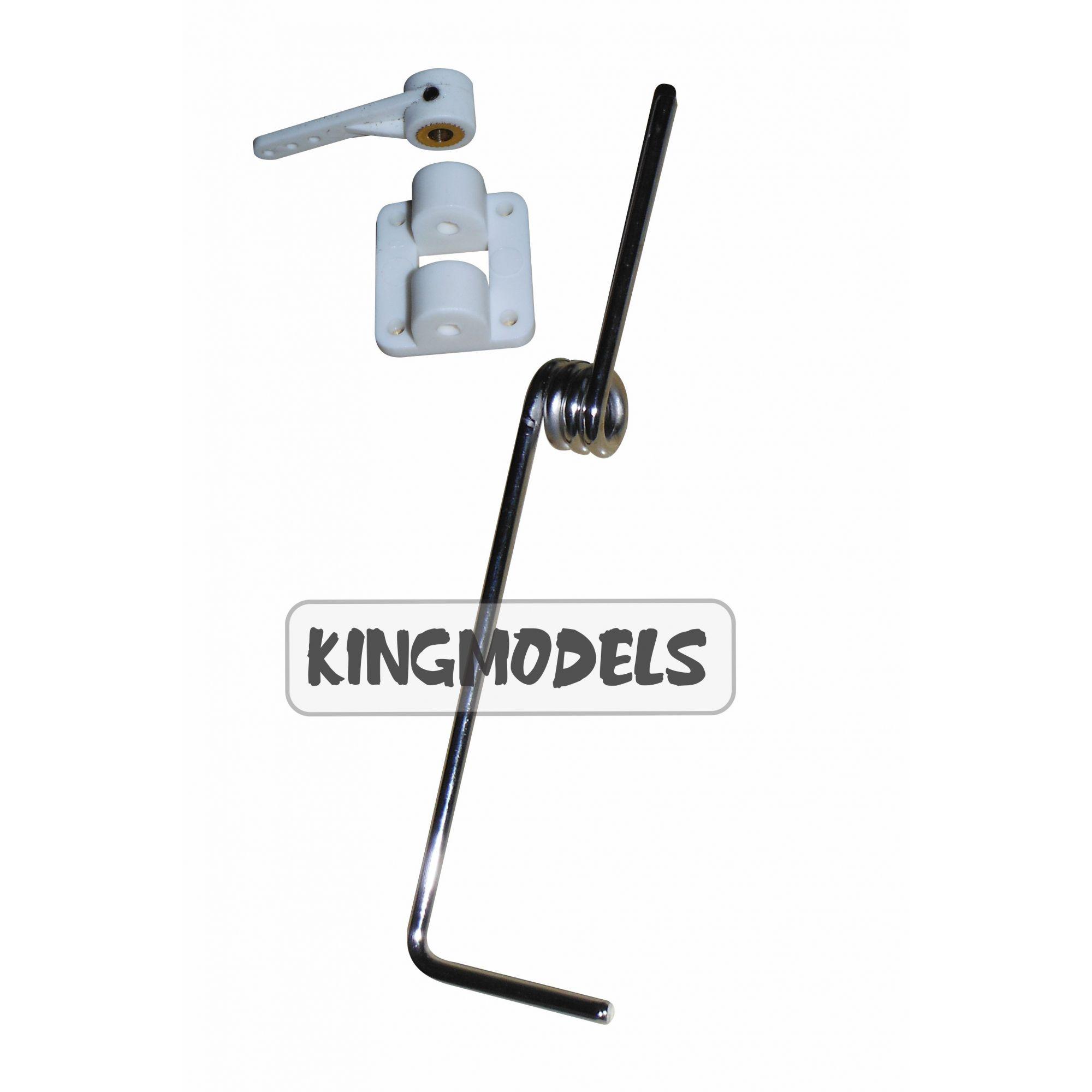 Bequilha Dianteira Para Aeros A Combustão 140mm C/suporte  - 418  - King Models