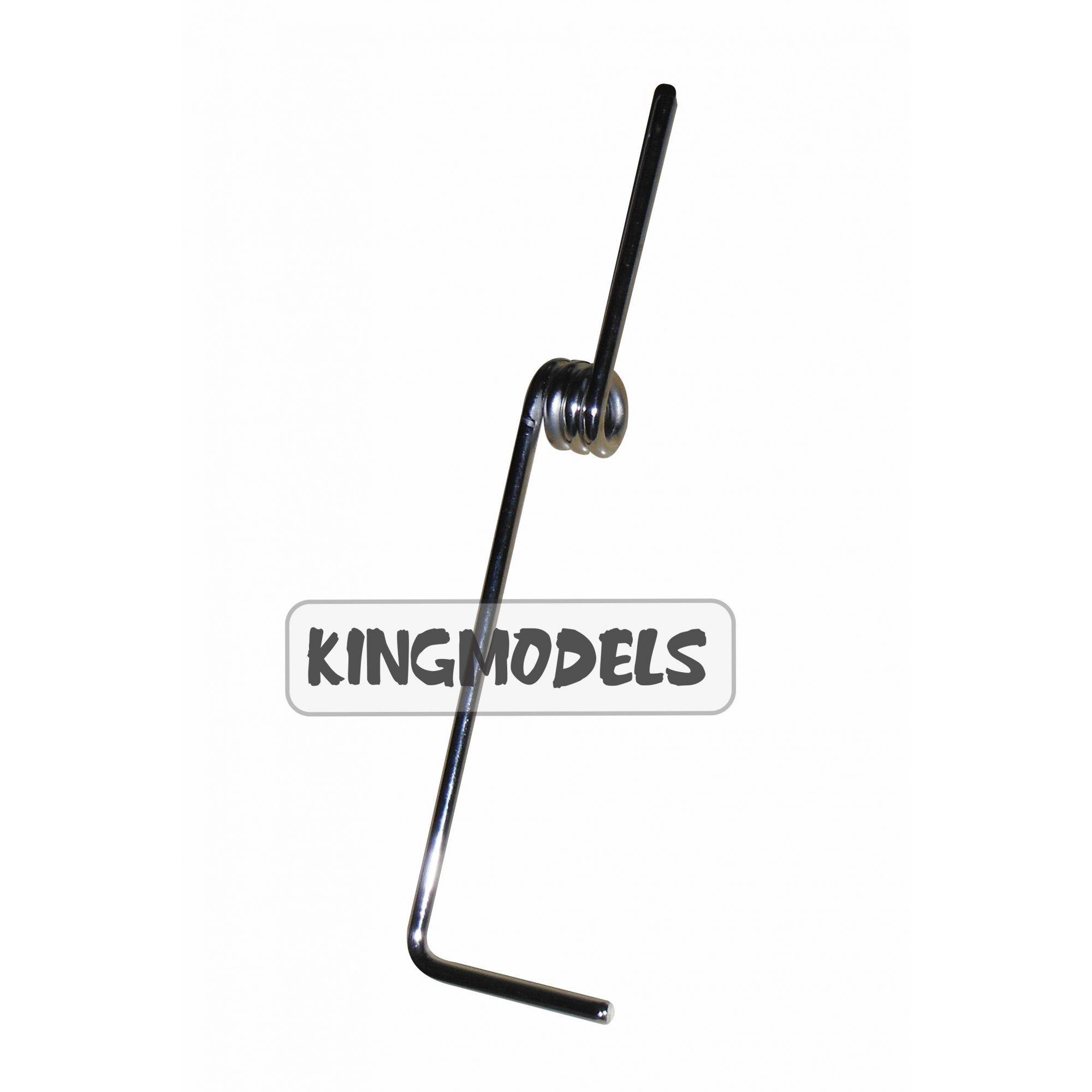Bequilha Dianteira Para Aeros A Combustão 140mm Com Mola - 418  - King Models