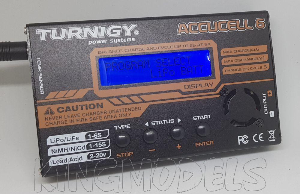 Carregador / Balanceador Digital Acuccel 6-50w/6a -lipo/life  - King Models