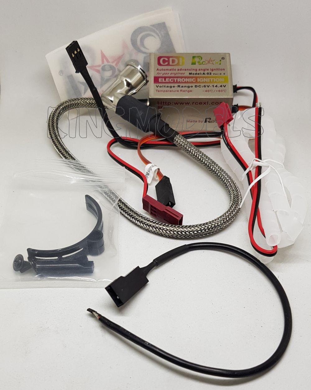 Cdi Ignição Rcexl - monocilindro - cm6  6v/14v Motor Gasolina  - King Models
