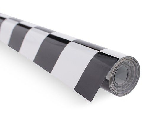 Chinakote (monokote) Xadrez Grande Preto/bco - 5cm - 640mm - 1xmt  - King Models