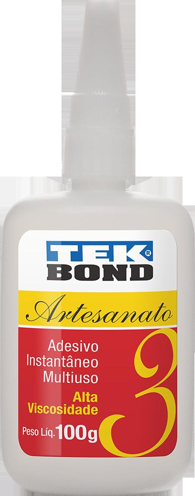 Cianocrilato Tekbond -nº3 - Alta Viscosidade - Frasco 100g   - King Models