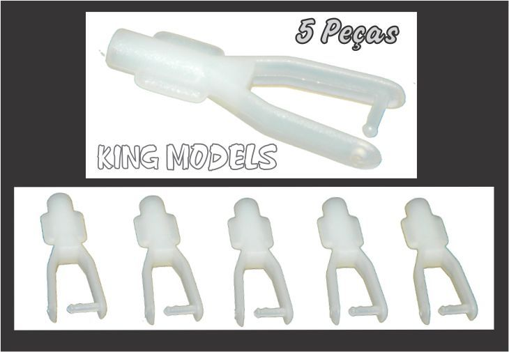 Clevis De Nylon 27 X 7 X 1.8mm - Linkagem Aeromodelos - 5pçs  - King Models