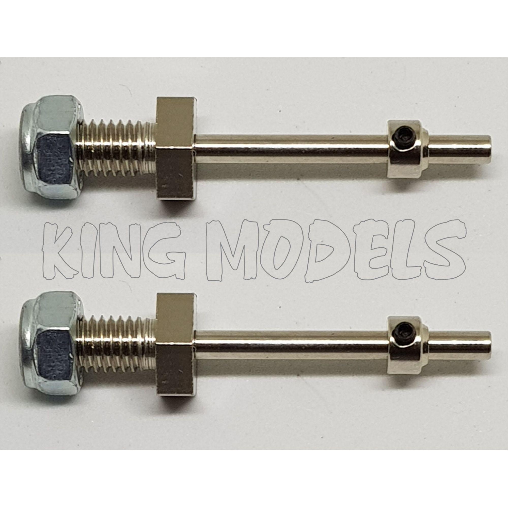 Conjunto De Eixo Para Trem De Pouso E Retentores - 4mmx40mm  - King Models