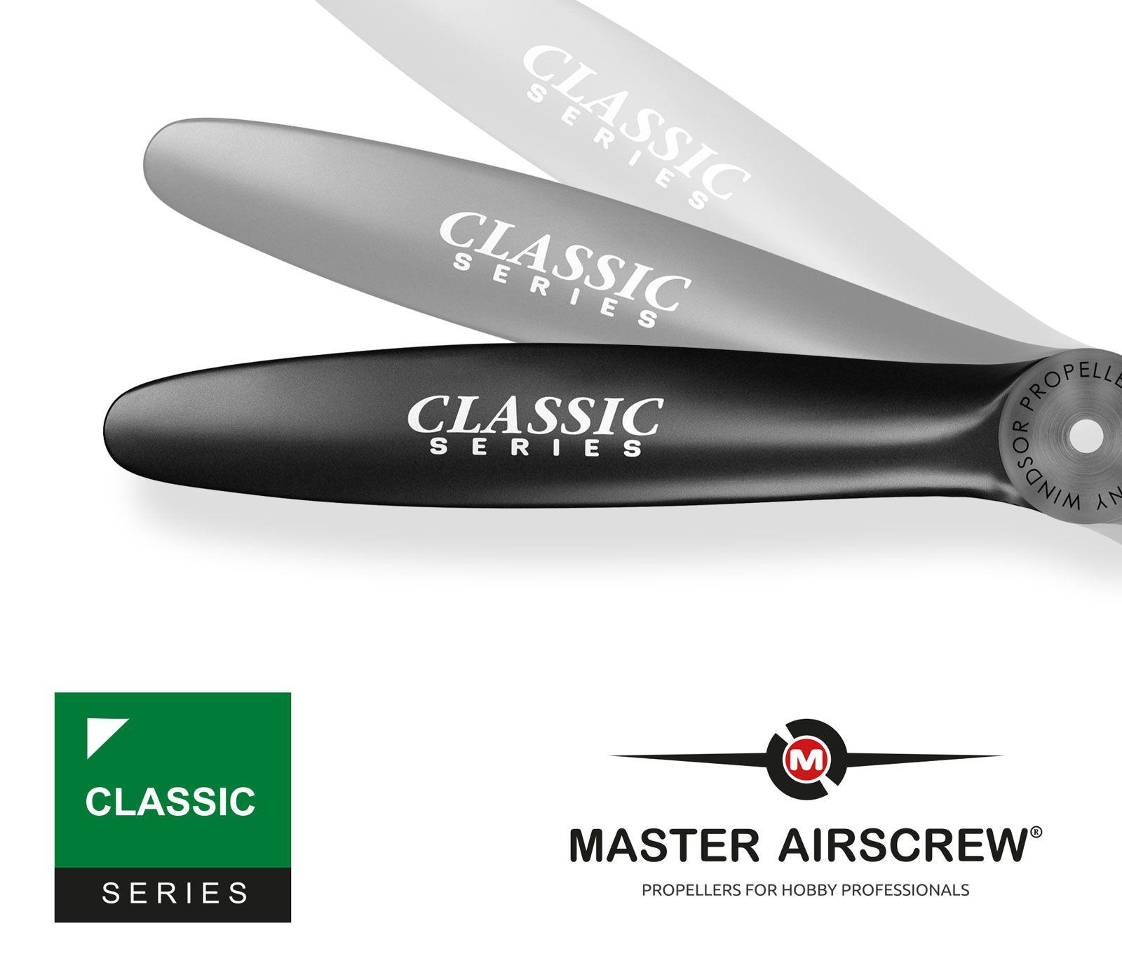 Hélice Para Aeromodelos A Combustão Master Airscrew 18X8-Série Classic  - King Models