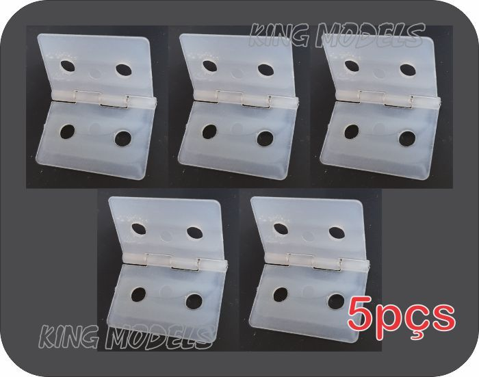 Kit 5x Dobradiças Extra-grandes 35x26mm - Aeros Larga Escala  - King Models