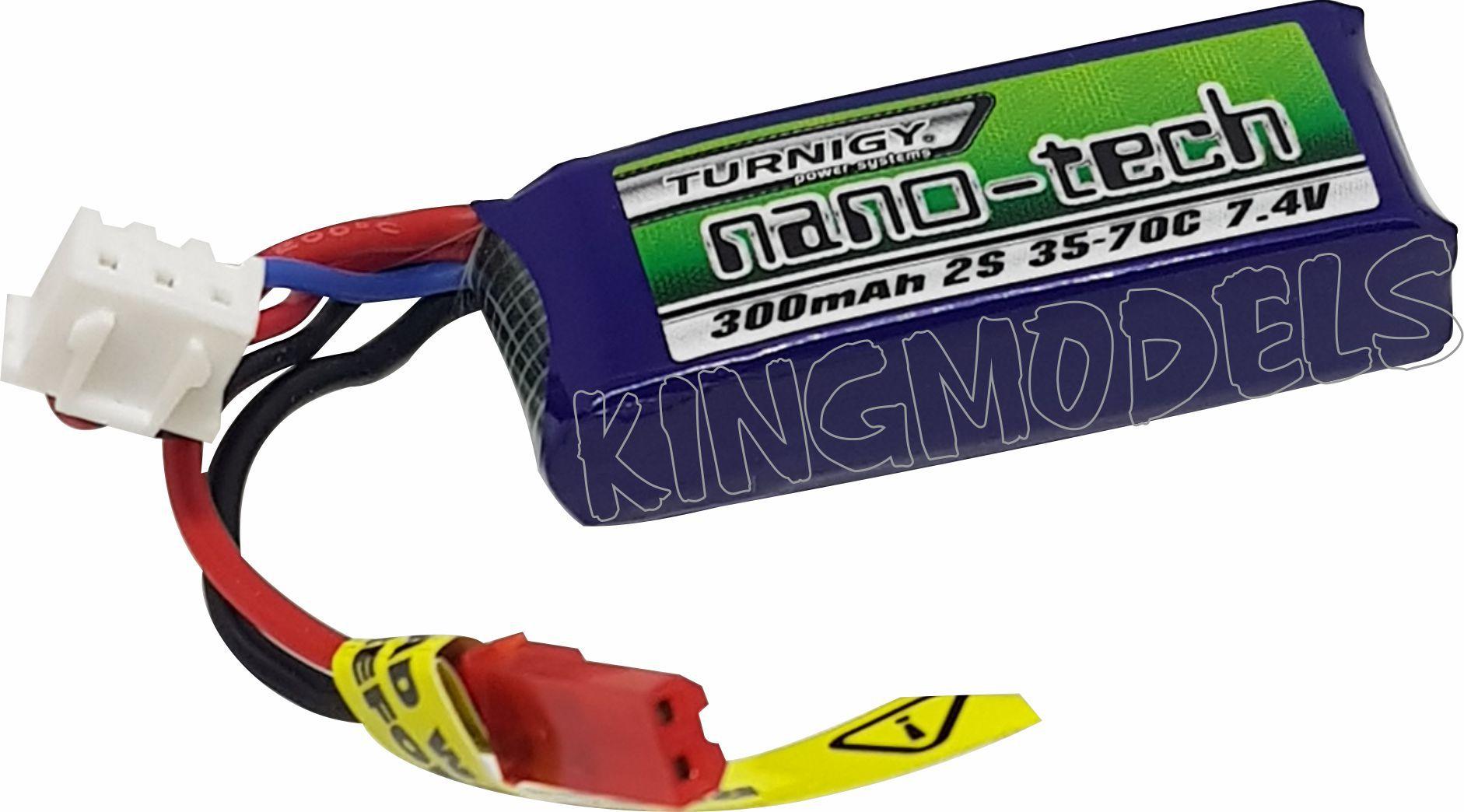 Lipo Nano Tech 2s - 7,4v - 300mah - 35/70c Airsoft / Aero  - King Models
