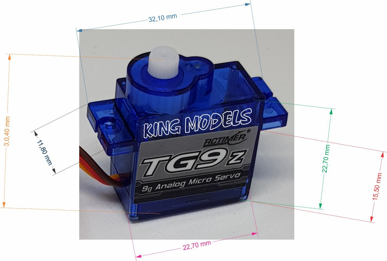 Micro Servo 9g Rctimer Tg9z - 1.5kg Torq - Melhor Preço Ml!!  - King Models