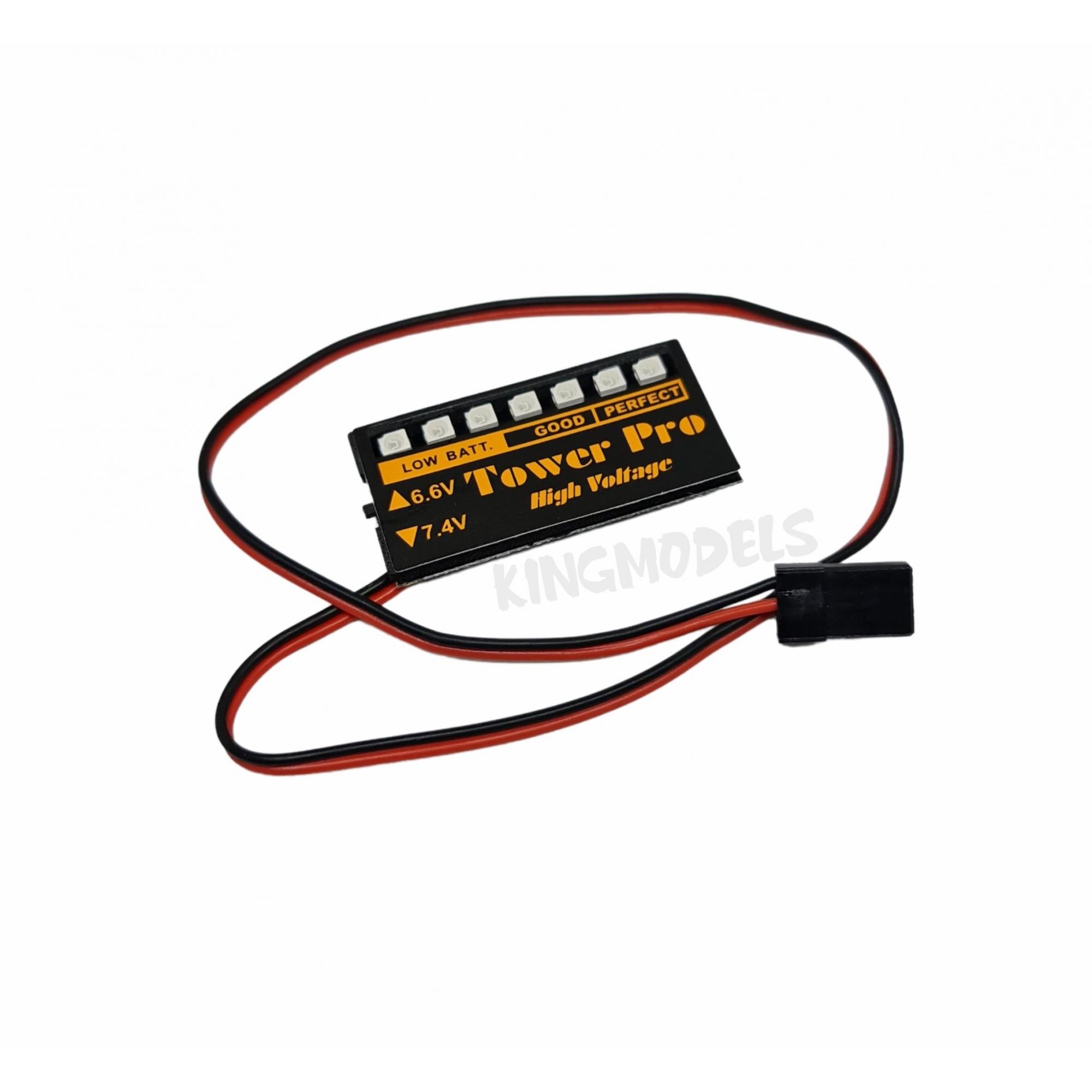 Monitor De Carga De Bateria Lipo Ou Life - 6.6 Ou 7.0v  - King Models