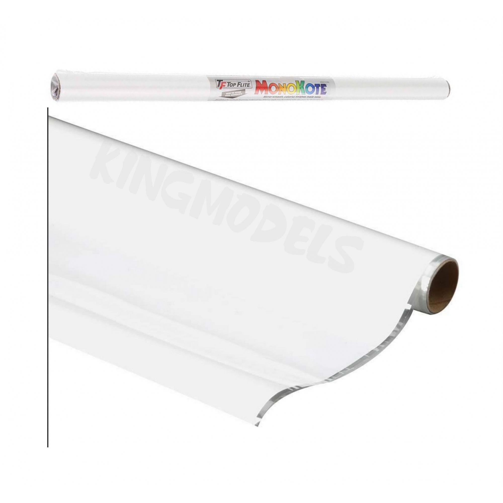 Monokote Topflite(genuino) - Branco - Topq0204  - King Models
