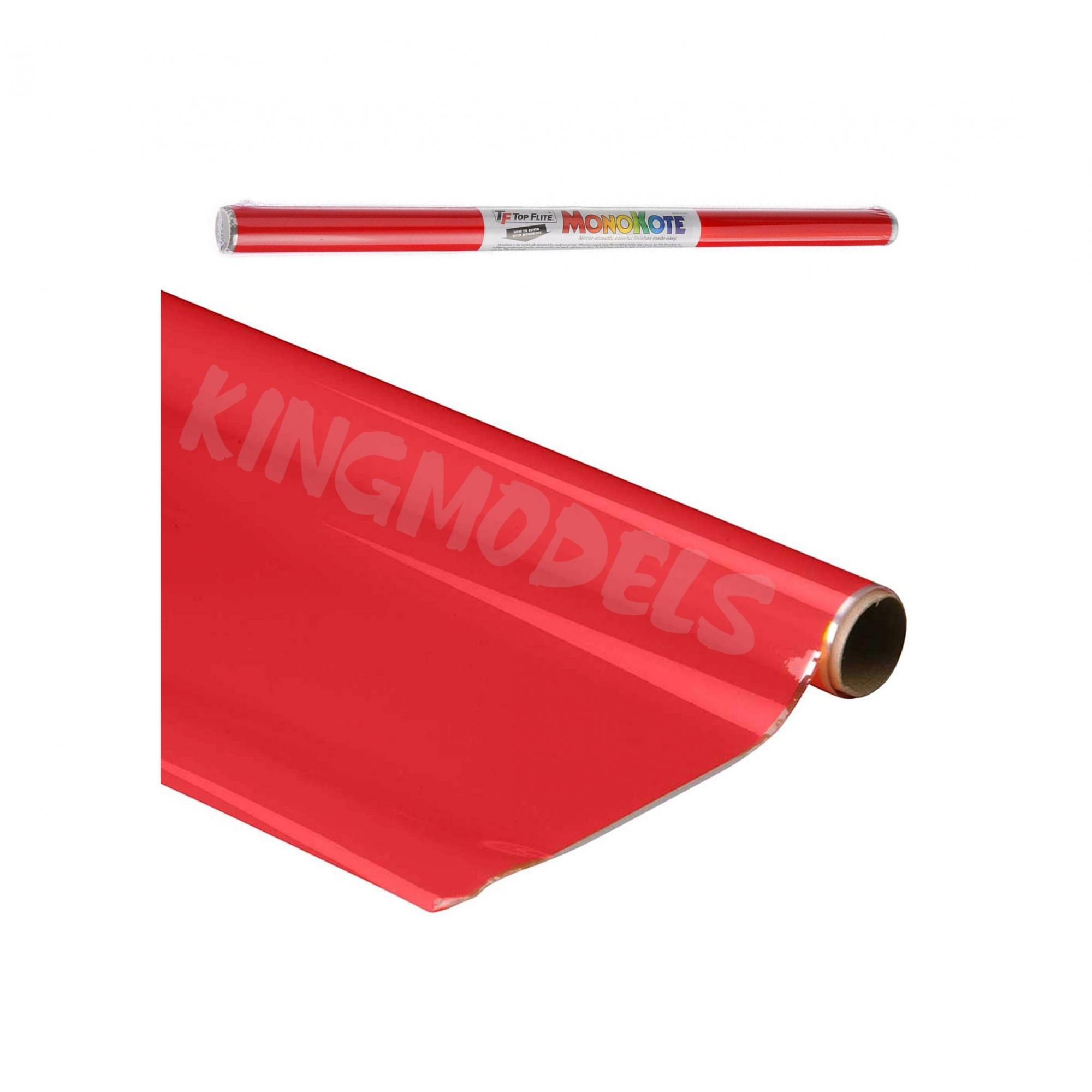 Monokote Topflite(genuino) - Vermelho(missile Red)- Topq0201  - King Models