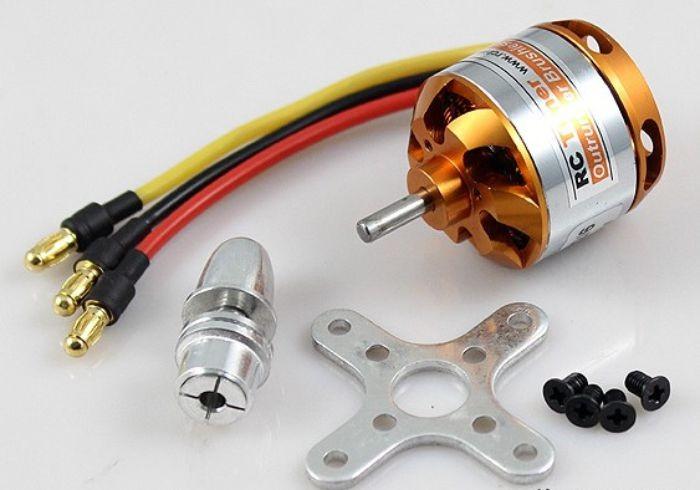 Motor Brushless Rctimer 2212/13-1000kv-150w+montante/spinner  - King Models