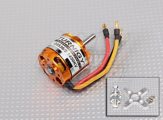 Motor Brushless Turnigy 3536-1450kv - 655w - Aeros Até 1,4kg  - King Models
