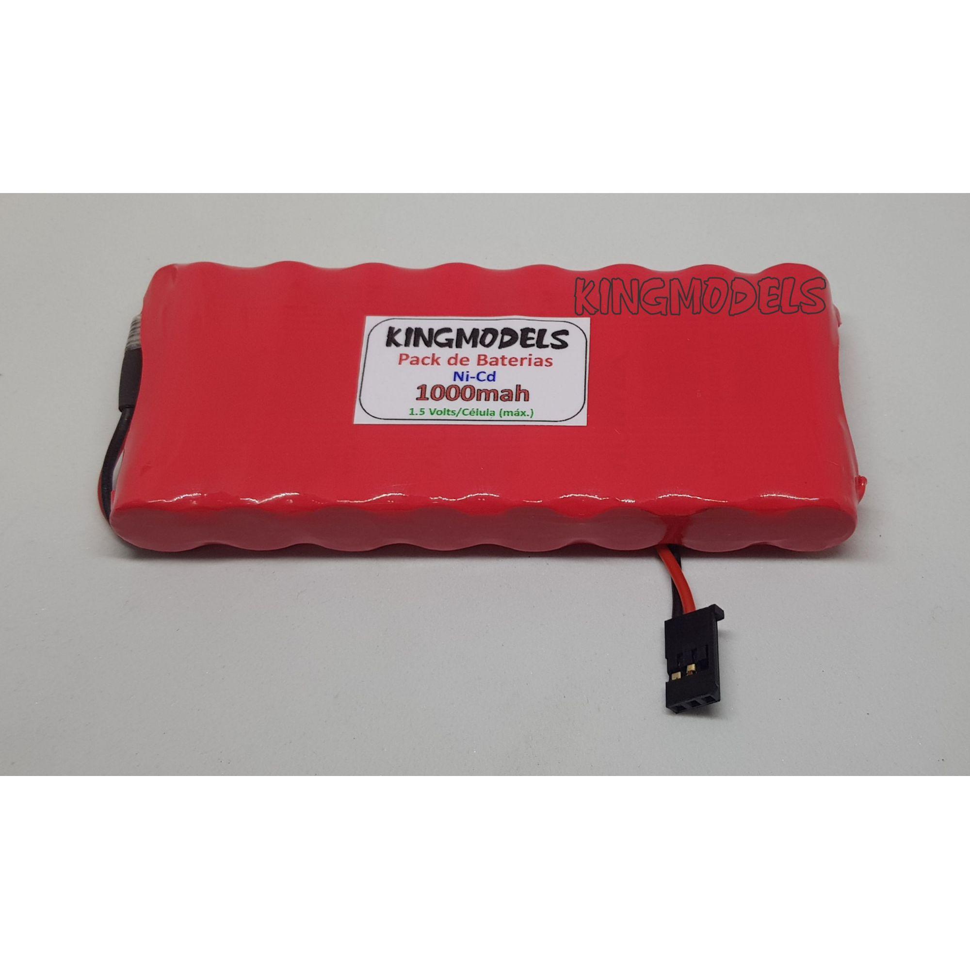 Pack Bateria Nicd 9.6v - 1000mah Rontek - Aero / Auto  - King Models