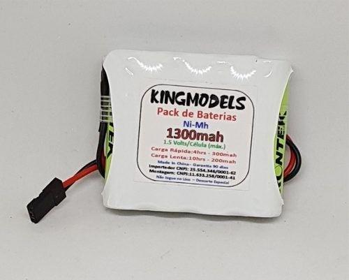 Pack Bateria Nimh 4,8v - 1300mah Flat Ou Torre -você Escolhe  - King Models