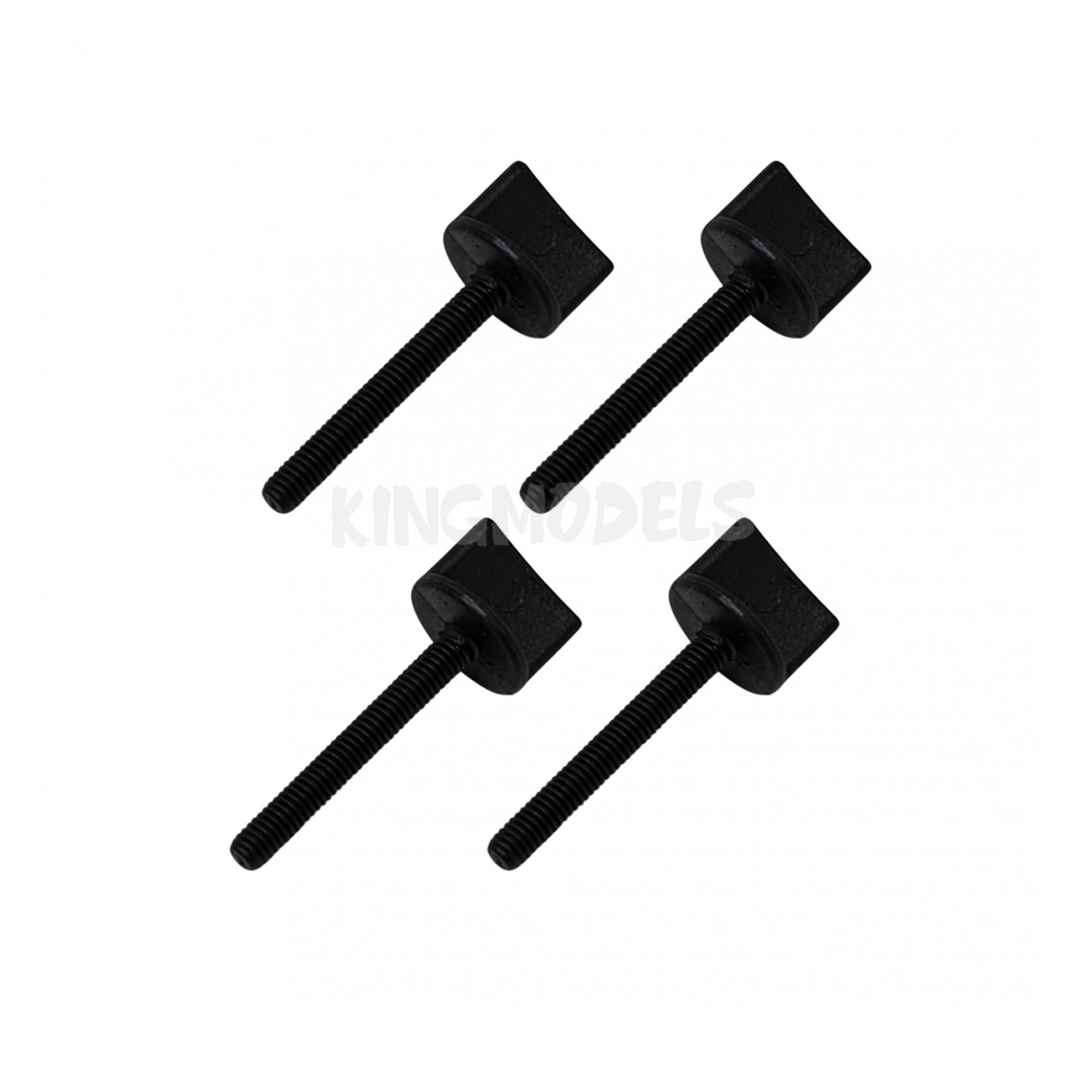 Parafuso Nylon Preto M4 x 45mm - Fixação Asa Aeros - 4pçs  - King Models