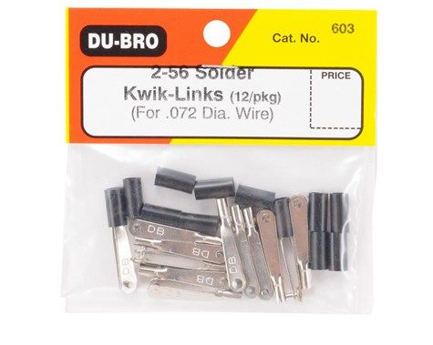 Push Rod / Clevis Dubro - Metal 2-56 - Dub603 - Solda - 12pç  - King Models