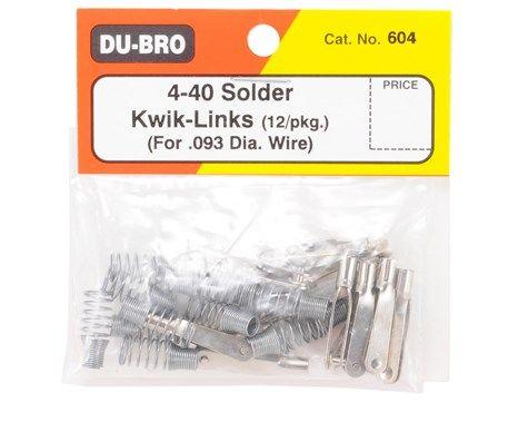 Push Rod / Clevis Dubro - Metal 4-40 - Dub604 - Solda - 12pç  - King Models
