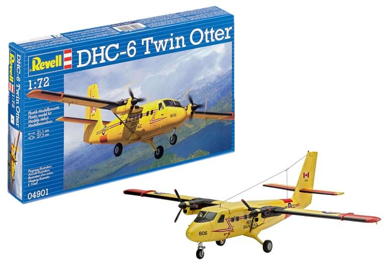 Revell - Dhc-6 Twin Otter - Escala 1:72 - Level 3 - 4901  - King Models
