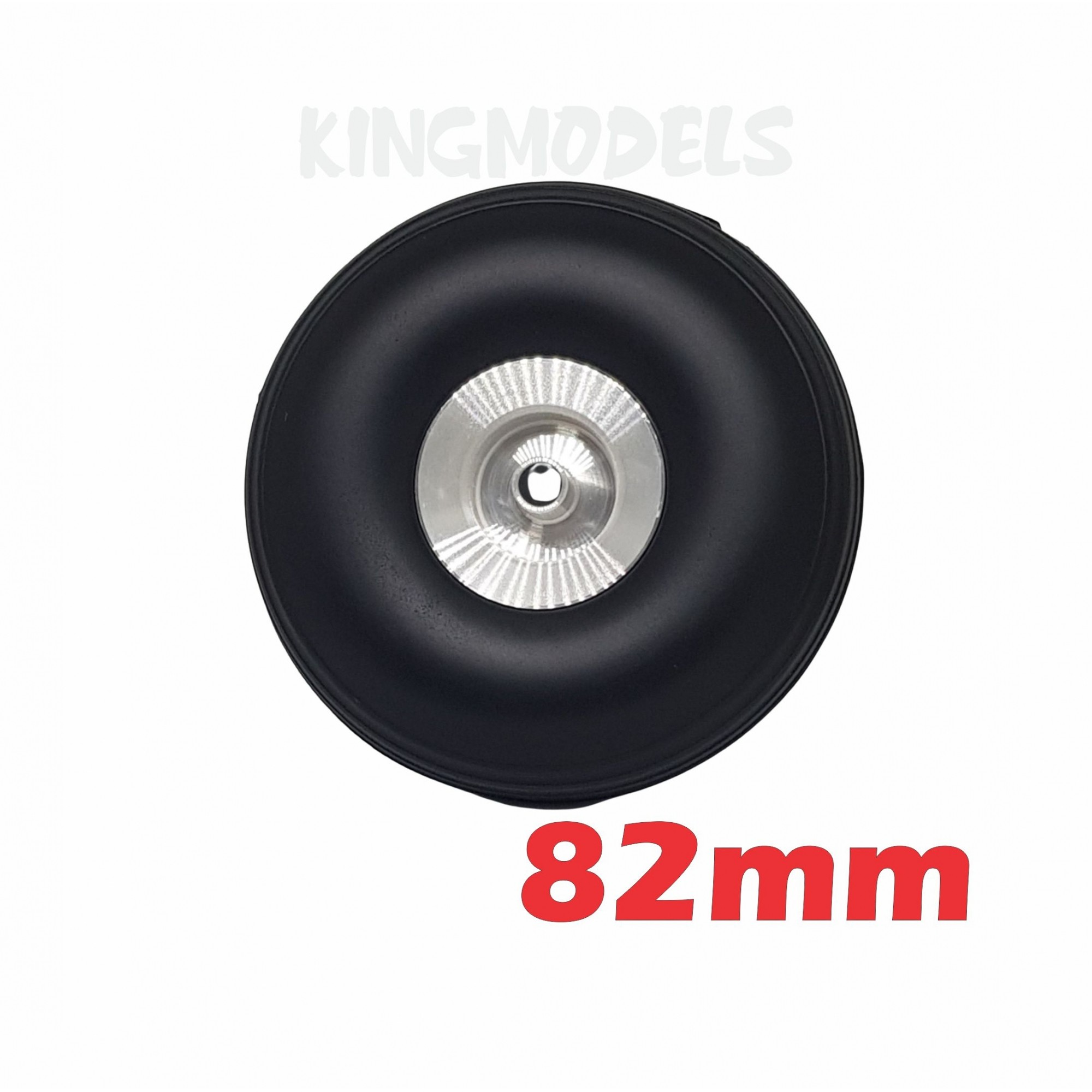 Roda De Borracha E Cubo Alumínio- Aero Glow/gasolina-82mm  - King Models