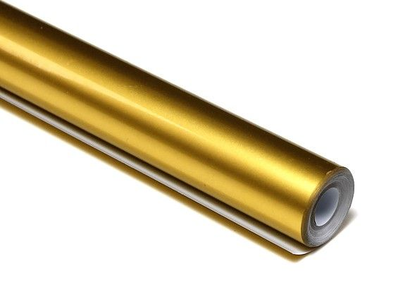 Rolo 5xmts Chinakote ( Monokote )- Ouro Metálico -640mm  - King Models