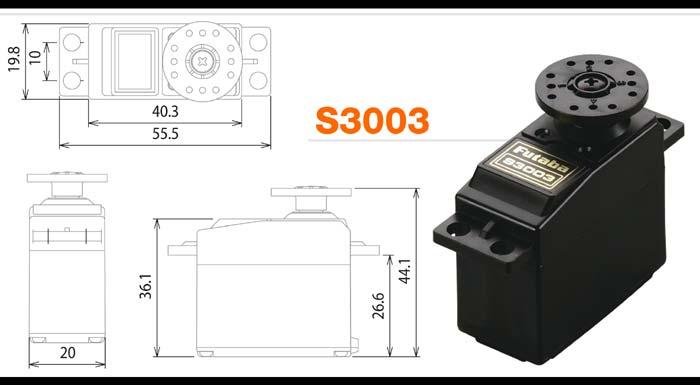 Servo Futaba S3003 Standard  - King Models
