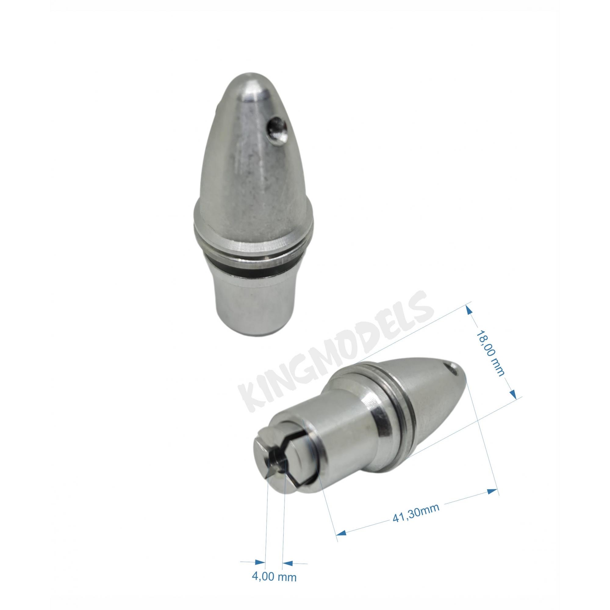Spinner Alumínio P/ Motor Brushless C/ Eixo 4mm Mod. Mandril  - King Models