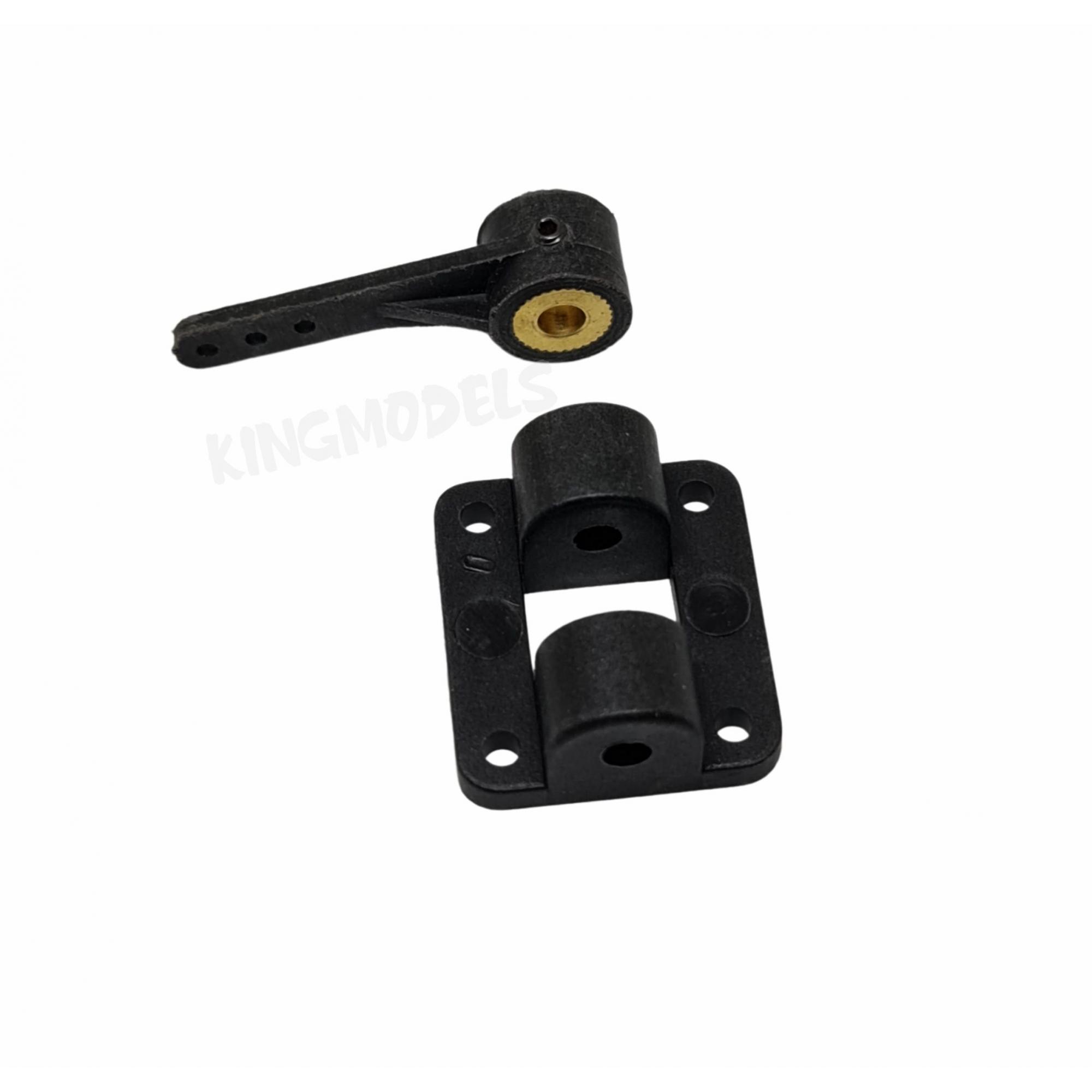 Suporte P/ Bequilha Dianteira C/ Haste De Comando Arame 4mm  - King Models