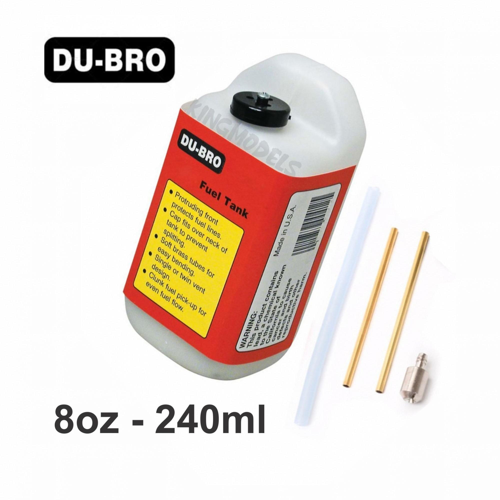Tanque de Combustível Du-Bro Quadrado - 8oz - 240ml  - King Models