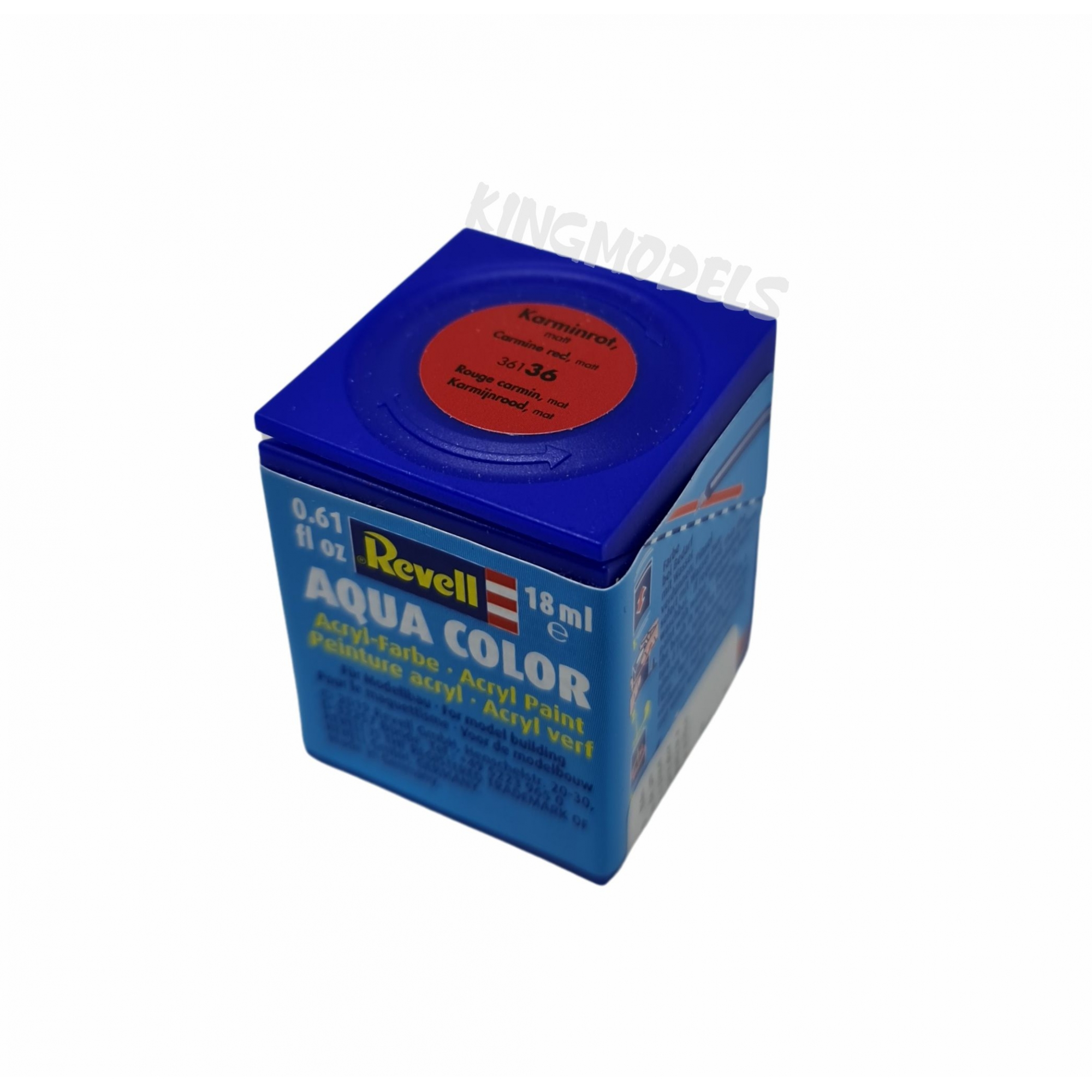 Tinta Revell - Aqua Color - Cod 36136 - Carmine Red -18ml  - King Models