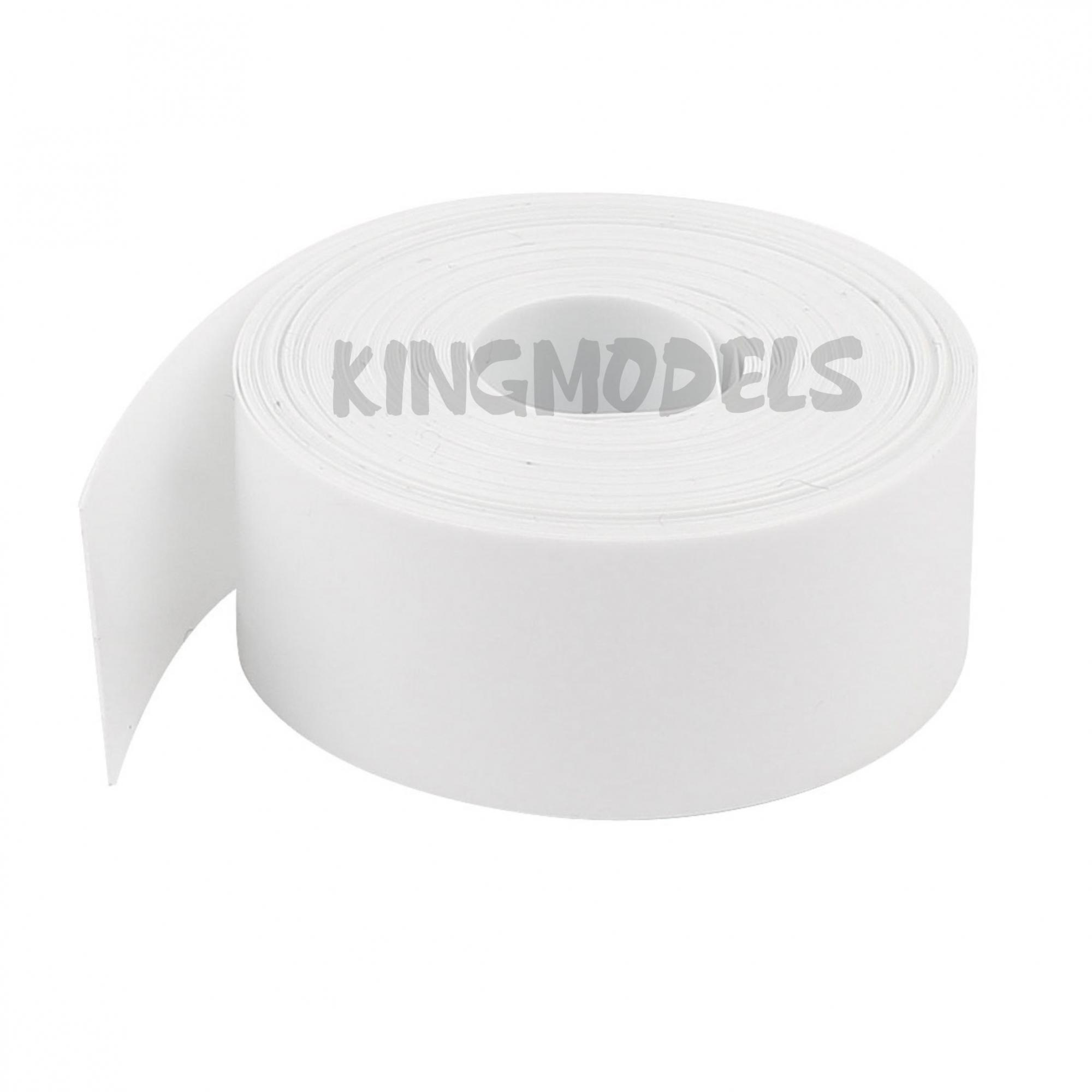 1xmt Tubo Termo retrátil Branco Pvc 150mm chato / diam. 95.4mm  - King Models