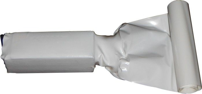 Tubo Termo-retrátil Pvc 85mm(chato)-diametro54.1mm -branco  - King Models