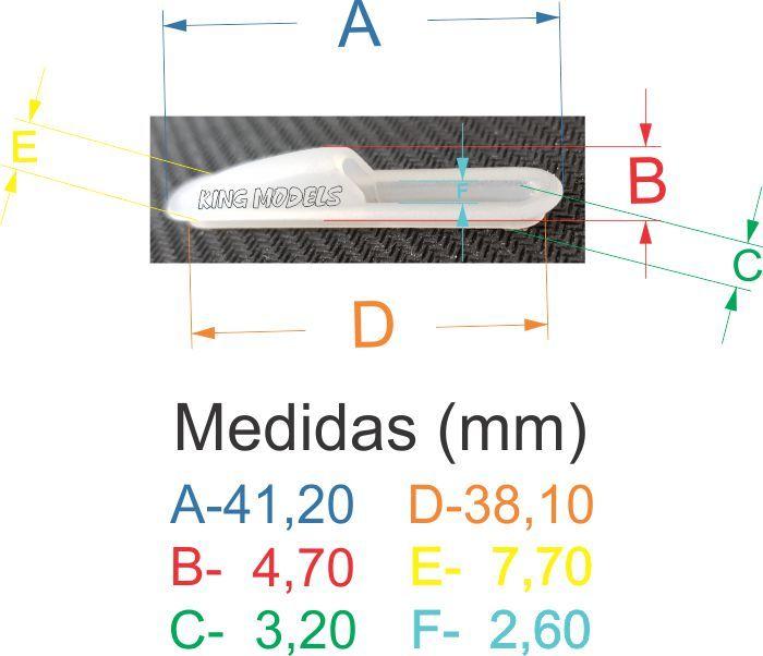 Túnel Para Acabamento De Fuselagem De Aeromodelos 20x4.5mm - 5pç  - King Models