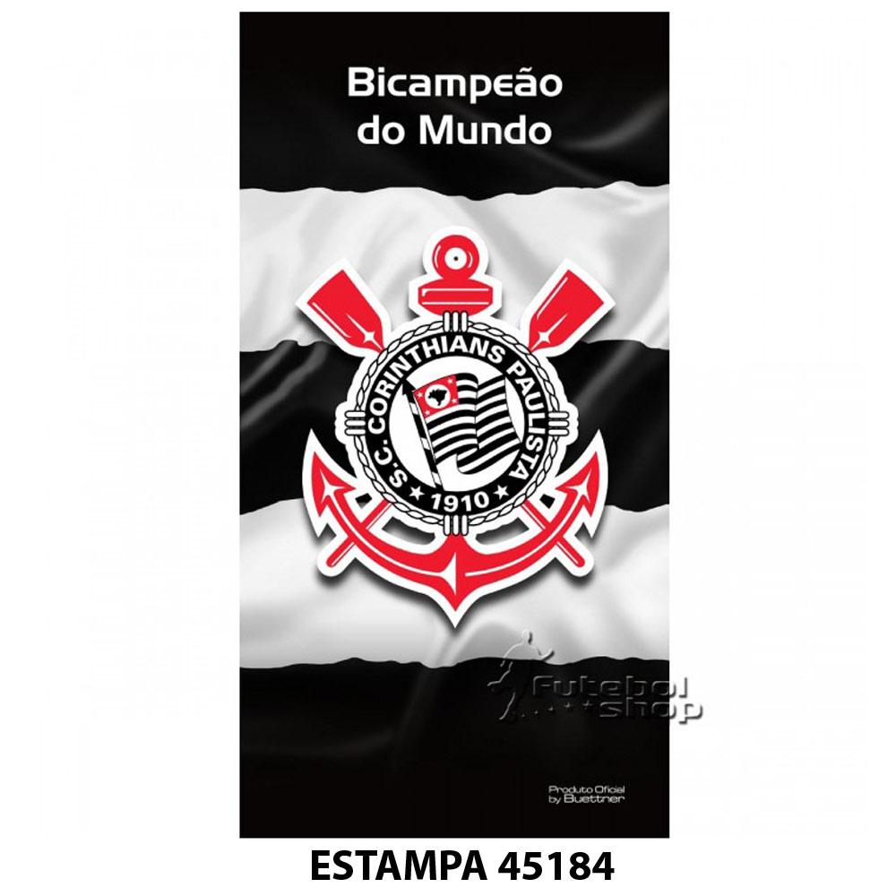 Toalha de Banho do Corinthians Buettner Veludo