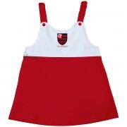 Vestido Torcida Baby Infantil com Alça  do Flamengo - 203A