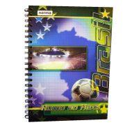 Caderno Capa Dura 1x1 96 Folhas Brasil