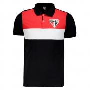 Camisa Polo do São Paulo Recortes Masculina