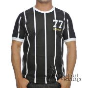 Camisa Retro do Corinthians Alvi Negro SP 1977 - RM12