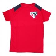 Camiseta Infantil São Paulo Vince Vermelha