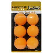 Cartela c/6 Bolas de Tênis de Mesa Yashima 40 mm - 3 Estrelas