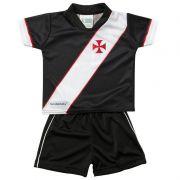 Conjunto Unifome para Bebê do Vasco da Gama Preto - 031S