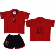 Conjunto Uniforme Bebê Flamengo - Torcida Baby 031E