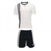Jogo de Camisa Uniforme Placar -  Branco e Preto - 19 Conjuntos