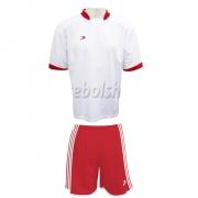 Jogo de Camisa Uniforme Placar -  Branco e Vermelho - 24 Conjuntos