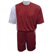 Jogo de Camisa  Uniforme Rhama -  Grená e Branco - 6 Conjuntos + Goleiros